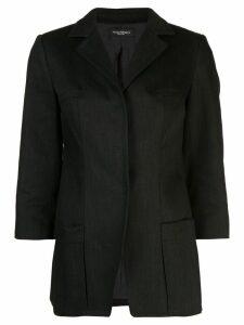 Narciso Rodriguez concealed fastening blazer - Black