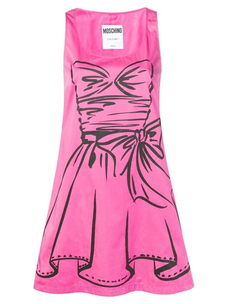 Moschino graphic motif dress - Pink