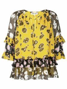 Dvf Diane Von Furstenberg floral blouse - Yellow
