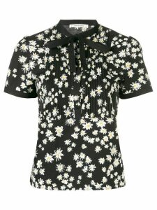 Chinti & Parker floral pussy bow blouse - Black