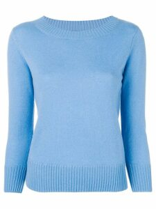 Vince long-sleeve fitted sweater - Blue