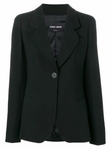 Giorgio Armani classic single-breasted blazer - Black