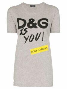 Dolce & Gabbana D & G Is You print cotton T-shirt - Grey
