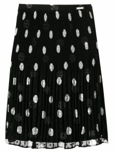 Liu Jo pleated polka dot print skirt - Black