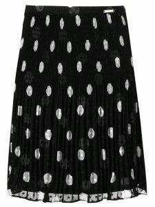 Liu Jo pleated polka dot print skirt - Black