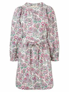Vanessa Bruno floral print knot dress - White