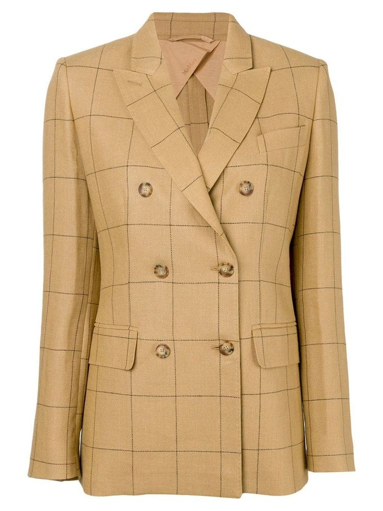 Max Mara checked blazer - Neutrals
