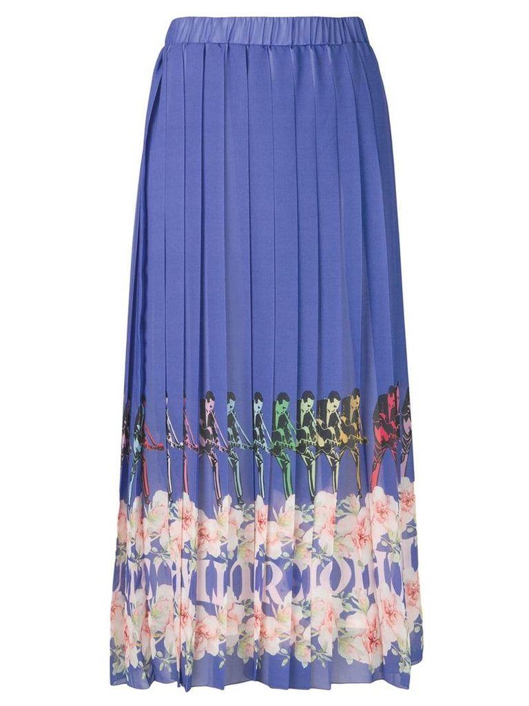 Ultràchic pleated maxi skirt - Blue