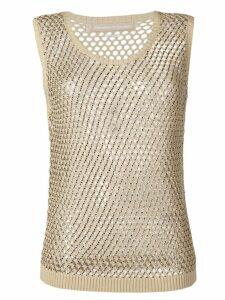 Ermanno Scervino sheer knitted top - Neutrals