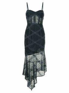 Manning Cartell embroidered asymmetric bustier dress - Blue
