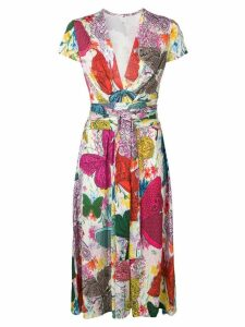 Ultràchic butterfly print dress - Pink