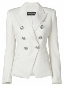 Balmain double-breasted blazer jacket - White