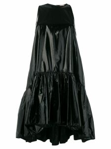 Nº21 shiny tiered mini dress - Black