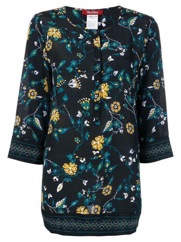 Max Mara Studio floral print tunic - Black