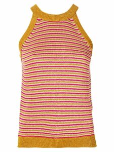 Twin-Set striped knitted top - Gold