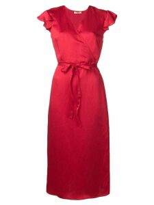Twin-Set mid-length wrap dress - Red