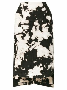 Nº21 tie-dye skirt - Black