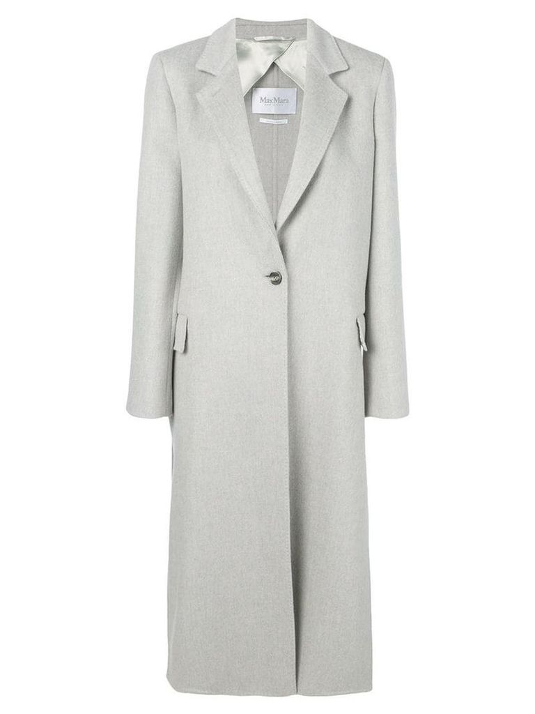 Max Mara single breasted coat - Grey