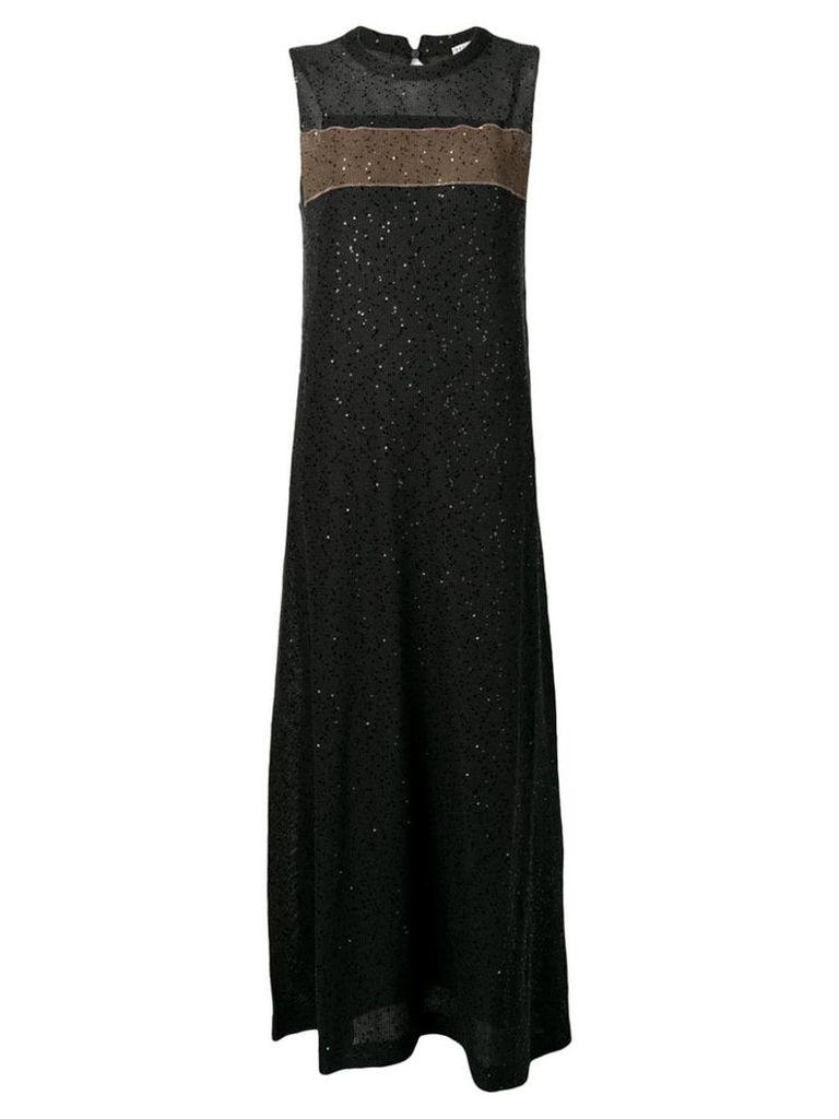 Brunello Cucinelli sequin embellished dress - Black