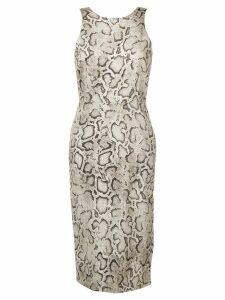 Pinko Python print fitted dress - Neutrals