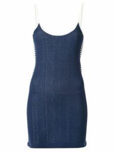 Nagnata retro stripe mini dress - Blue