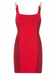 Nagnata colour block mini dress - Red
