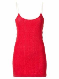 Nagnata retro stripe mini dress - Red