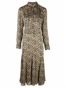 Equipment leopard print shirt dress - Brown
