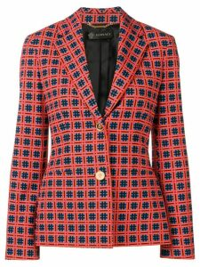 Versace printed blazer - Red