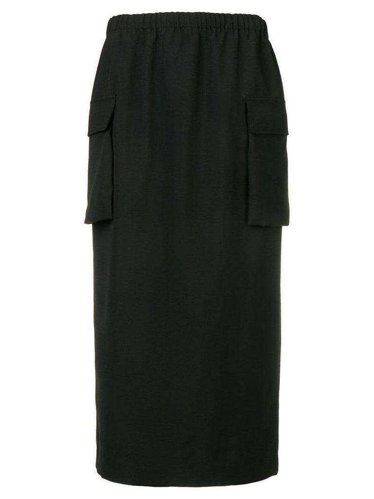 Comme Des Garçons Comme Des Garçons cargo midi skirt - Black