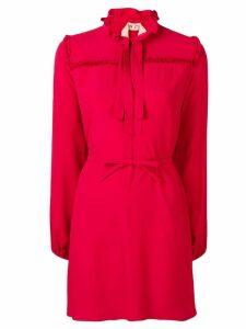 Nº21 ruffled bow tie dress - Red