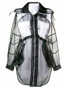 Maison Margiela layered organza shirt dress - Black