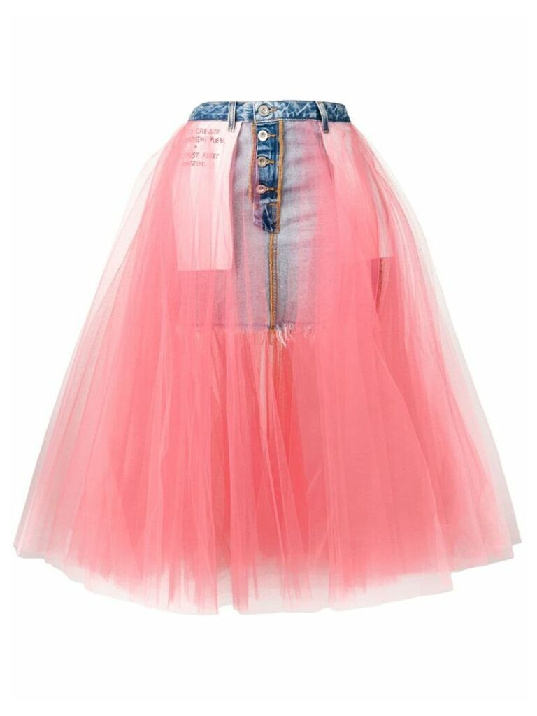 Unravel Project layered midi skirt - Pink