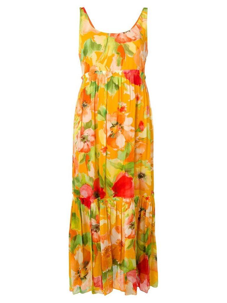 Twin-Set floral print dress - Yellow