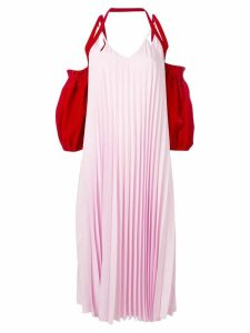 Atu Body Couture colour-block pleated dress - Pink