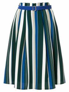 Guild Prime striped flared skirt - Multicolour