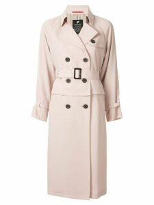 Loveless pleated panel trench coat - Pink