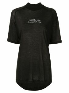 Song For The Mute slogan T-shirt - Black