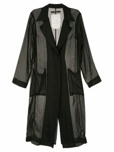 Song For The Mute sheer long blazer - Black
