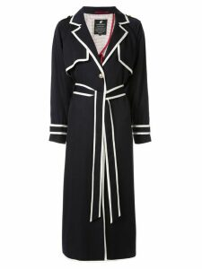 Loveless contrast trim coat - Blue