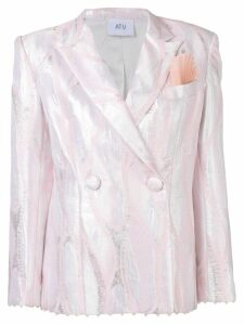 Atu Body Couture metallic double-breasted blazer - PINK