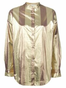Forte Forte Chic iridescent striped shirt - Gold