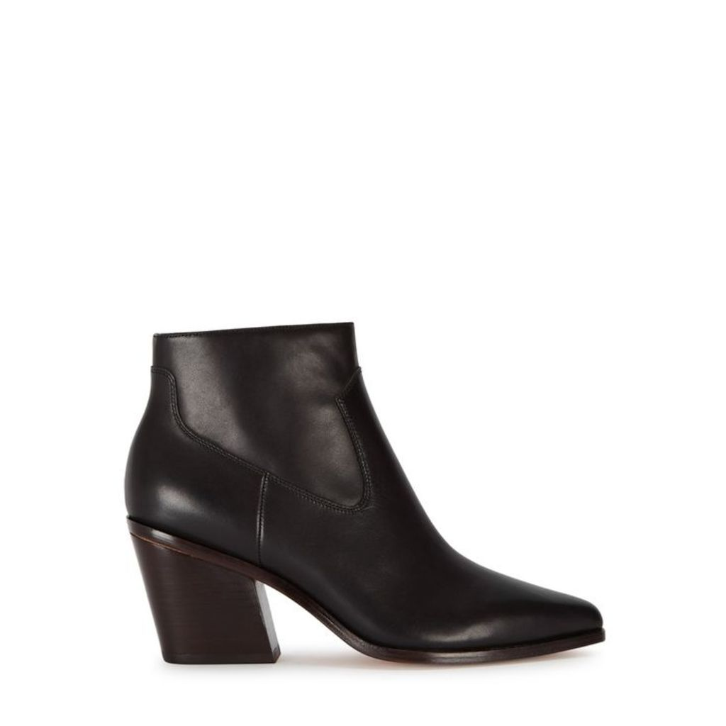 Rag & Bone Razor 90 Black Leather Ankle Boots