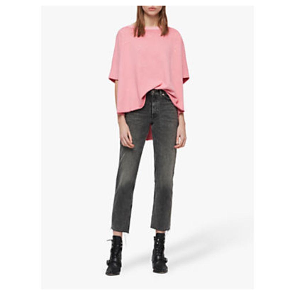 AllSaints Xonda Splatter Sweatshirt, Pink