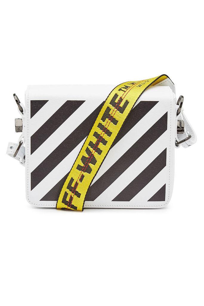 Off-White Diag Flap Printed Leather Shoulder Bag