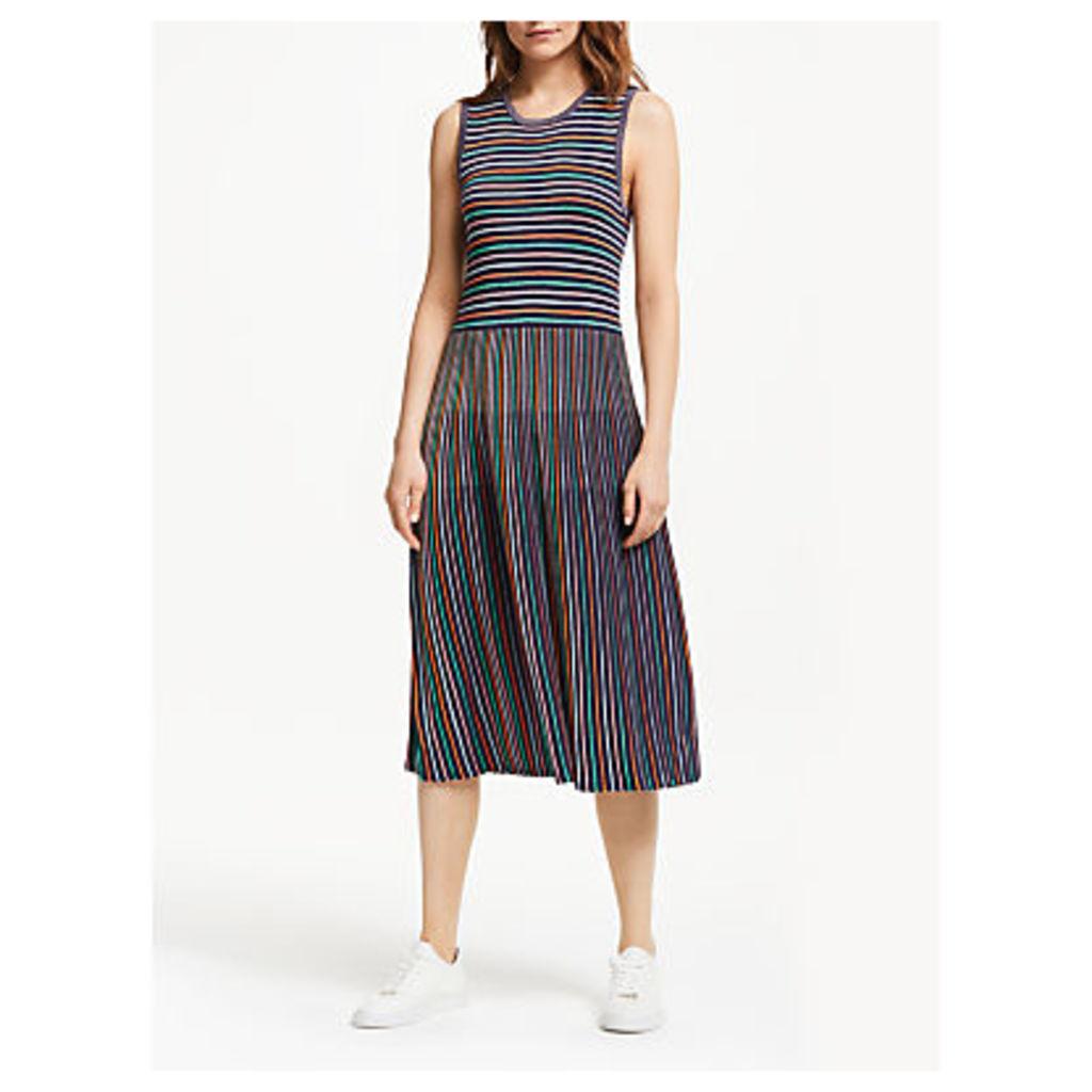 Numph Joaquina Knitted Dress, Multi Stripe
