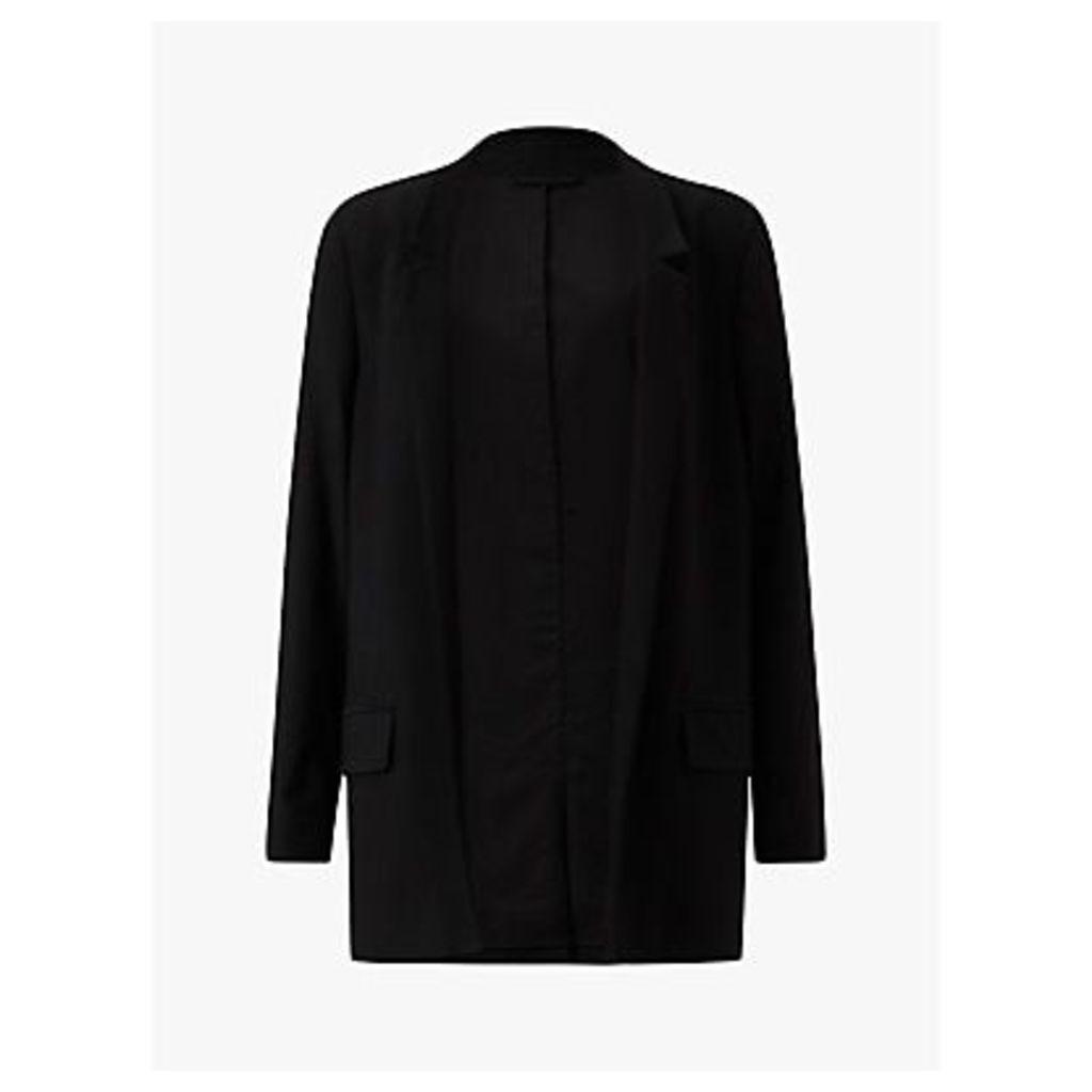 AllSaints Aida Jersey Blazer, Black