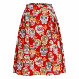 Marianna Déri - Hanna Skirt Happy Skulls Red