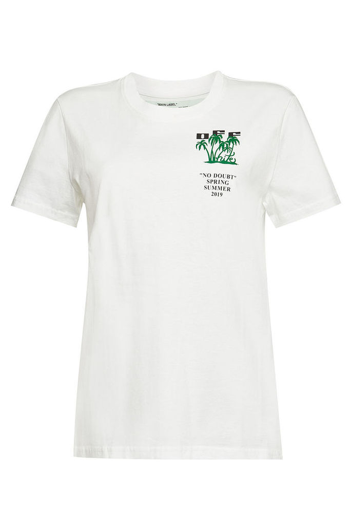 Off-White Island Printed Cotton T-Shirt