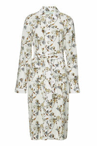Off-White Printed Shirt Dress